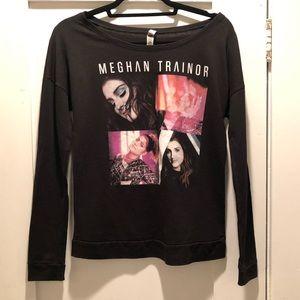 Meghan Trainor Black Long Sleeve Concert Tee